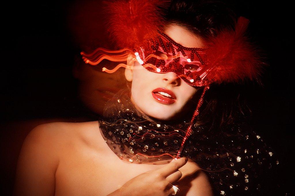 Red Ballroom Mask